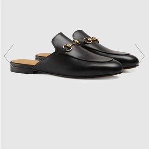 Gucci Women's black Princetown Leather Mule